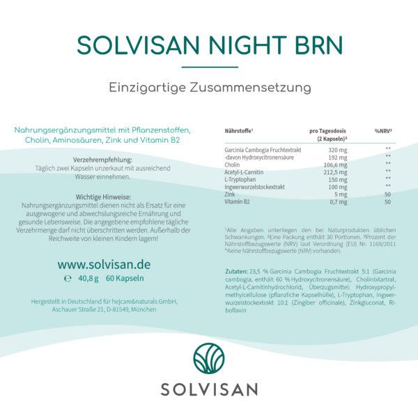 Solvisan Night BRN Inhaltsstoffe